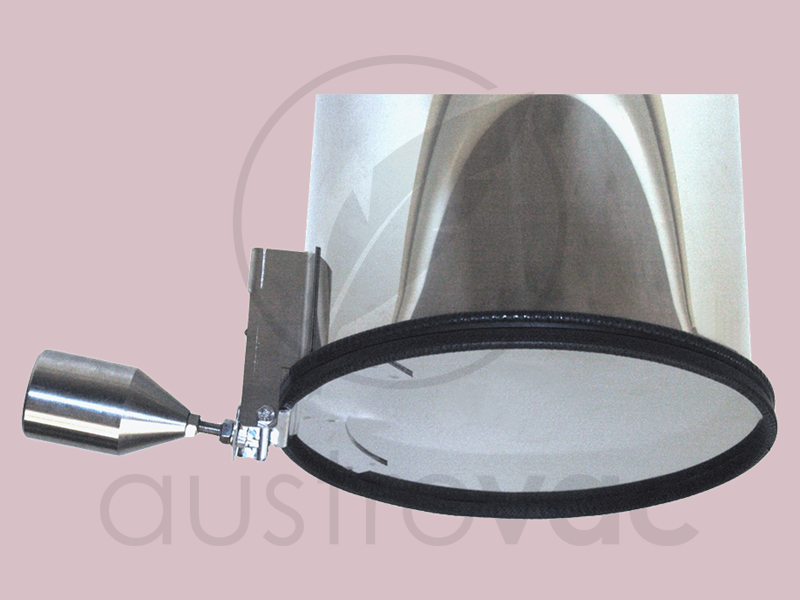 Wäscheschacht Klappe 250mm edelstahlrohr abwurfklappe selbstöffnend 250mm